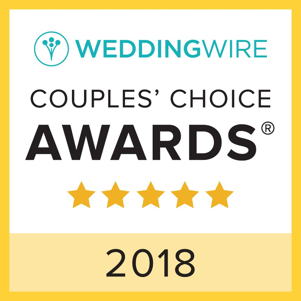 We Just Won the WeddingWire Couples Choice award...Again