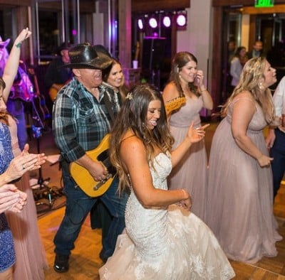 Bride and Groom dancing at their Colorado wedding